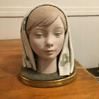 Vintage Lladro 1969 HUGE RETIRED Lady GIRL'S HEAD Bust CABEZA 1003