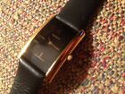 Movado 87.C1.420 Gold tone Black Museum Woman Long Curved Dress Watch