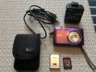 NIKON COOLPIX Purple digital camera 5x wide optical zoom charger Sandisk 16GB SD