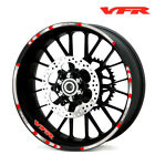 For Honda VFR750 VFR800 VFR1200/F Wheel Rim Reflective Sticker Stripes Decal