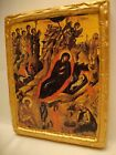 Jesus Christ Nativity Rare Greek Eastern Orthodox Christianity Icon Art OOAK