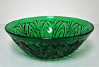Anchor Hocking Forest Green Oatmeal Pattern Vegetable Bowl 8