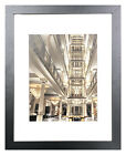 11 x 14 Picture Photo Frame Black Grey or White Glass 8x10 with Mat Wall Mount