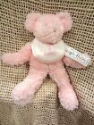 Boyd's Collection IT'S A GIRL Pink Plush Teddy Bear Bib & Rattle Rare~NEW w TAG