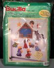 BUCILLA PLASTIC CANVAS KIT 61256 MANGER 11 MAGNETS Ornaments NATIVITY CHRISTMAS