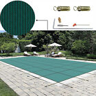 Swimming Pool Cover 14X26 FT Rectangle In Ground Mesh Safety Blue and Black