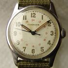 WWII PERIOD MEN'S military CONCORD steel WRISTWATCH GOOD CONDITION