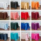 LinenTablecloth 90x132 in Rectangular Satin Tablecloth 33 color Wedding Event