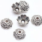 100Pcs Tibet Silver Plated Flower Spacer Bead Caps For Jewelry Findings Bracelet
