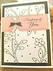KITTYS BLANK NOTE CARDS Set of 10+Envelopes Thinking of You Ribbon