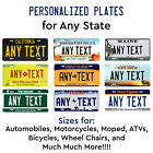 Customized License Plate Tag Personalized for Any State Auto Car Motorcycle ATV