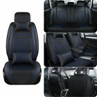Deluxe Car Seat Covers Full Set 5 Seat Thicken Pu Leather Frontrear Cushion