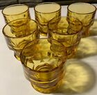 6 New Vintage Anchor Hocking Amber Georgian Small Juice/Whiskey Glasses