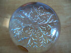 PAPERWEIGHT GENUINE LEAD CRISTAL SNOWFLAKE IMPORTED FROM FRANCE NWT
