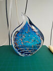 Hand Blown Blue Solid Glass Sculpture Decoration Collectors Item From Europe