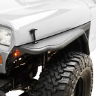 Fits 87 96 Jeep Wrangler YJ Tube Front Fender Flare Rocker Guard W Mesh Textured