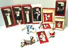 HALLMARK ORNAMENTS  LOT of 7, SNOWMAN PEZ, TRIPLE DIPPIN'!, SO MUCH TO DO,