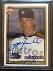 2018 Topps Archives Jeff Bagwell Astros On Card Auto Rookie History #ed 30 99