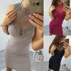Womens Hollow Lace Bodycon Short Mini Pencil Dress Party Cocktail Club Sundress