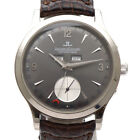 Jaeger LeCoultre Q147347A Master Date Watch AT K18WG White Gold Gray Rare Color