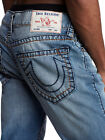 True Religion Mens Rocco Big T Skinny Fit Jeans in Indigo Light Blue