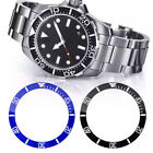 Carving 38mm Black / Blue Ceramic Watch Bezel Insert Ring for 40mm Watch Replace