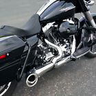 Freedom Performance Chrome Black 2 Into 1 Turnout Exhaust System HD00509