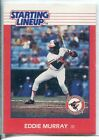 1988 Starting Lineup Card Eddie Murray