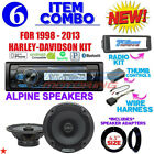 FOR 98 2013 HARLEY TOURING STEREO RADIO INSTALL KIT BIKE ELECTRONICS ALPINE A