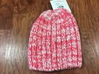 Hanna Andersson Kids Chunky Marled Hat Size S  Pink White Sweater Knit New