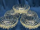 Vtg Anchor Hocking Depression Glass Bubble Clear,  5 Sm. Fruit Bowls circa 1940s