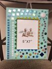 handmade glass beads and mosaic art picture frame