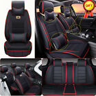 Car Seat Cover Pu Leather 100 5-seat Suv Cushions Set Front Rear Wpillows Us