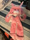 deLux BUNNY RABBIT HAT knit pink LINED animal costume beanie cap gloves attached