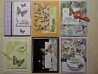 6 Handmade GREETING Cards Stampin Up BOTANICAL BUTTERFLY DSP Variety