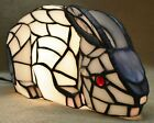 Crouching Rabbit Stained Glass Lamp