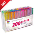 Glitter Gel Pens Refills Set For Coloring Books Adult Drawing Painting Writing