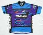 Vintage NO FEAR Mens XL Race Gas Energy Thirst Quencher Cycling Jersey Shirt