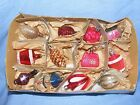 Old Vintage Selection Glass Christmas Tree Decoration Ornament Baubles Bag Heart