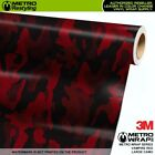 Large Vampire Red Camouflage Vinyl Vehicle Car Wrap Camo Film Sheet Roll