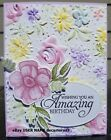 HAPPY BIRTHDAY HANDMADE CARD KIT STAMPIN UP COUNTRY FLORAL PAINTED SEASONS