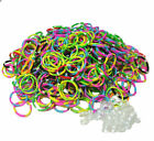 Qty 600 RARE TIE DYE Rubber Bands for Loom Authentic Bracelets + 25 S Clips US