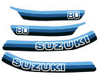 1980 1981 Suzuki RM80 Gas Tank And Side Panel Decal Set 4 Pcs.  68136-20310-76P