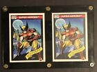 1990 Marvel And 1991 Impel Marvel Universe Toy Biz Wolverine Both Mint W Case