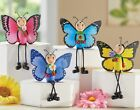 Set of 4 Butterfly Shelf Sitters Figurine Statue Floral Spring Summer Home Decor