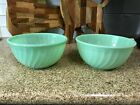 Vintage Fire King Jadeite Mixing bowls Swirl pattern