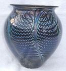 "David Lotton Art Glass Vase 7 1/2"" Signed & Dated 2006"