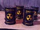 124 Scale G Scale Set of Four Black plastic Waste Drums