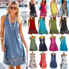 Women's Plus Size Loose Kaftan Dress Summer Beach Casual Long Tops Sun Dress