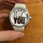 AUTHENTIC DOLCE & GABBANA D&G Heart I Love You Wristwatch